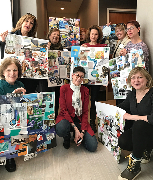 I was delighted to be with the remarkable women at my workshop and their fantastic vision boards.