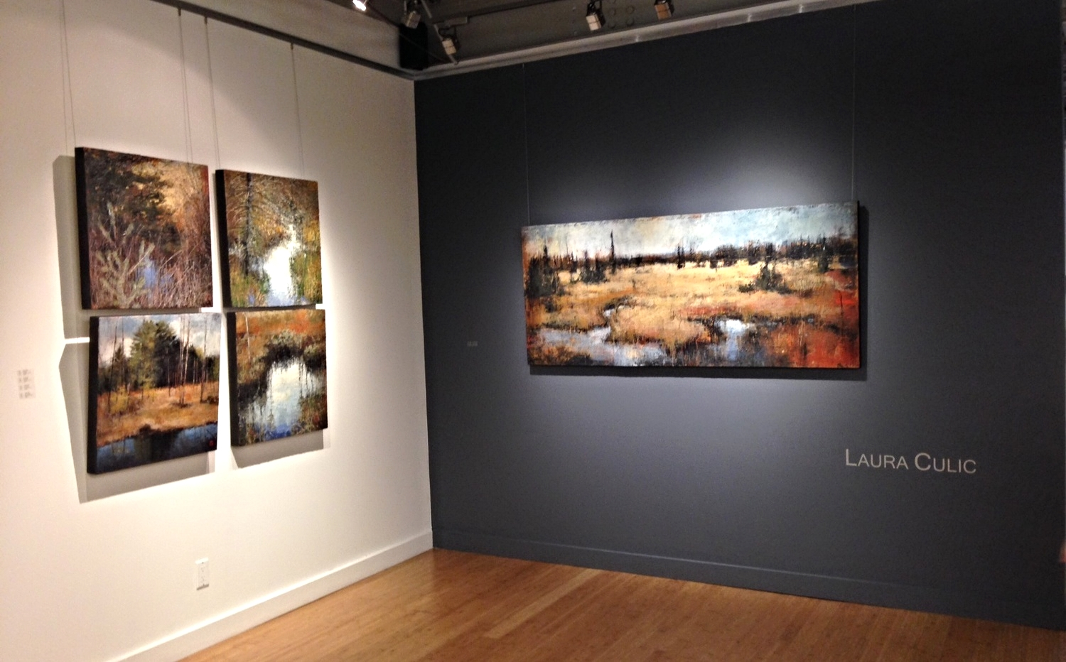 Sample of works by Laura Culic featured last Fall in the exhibition Back Country