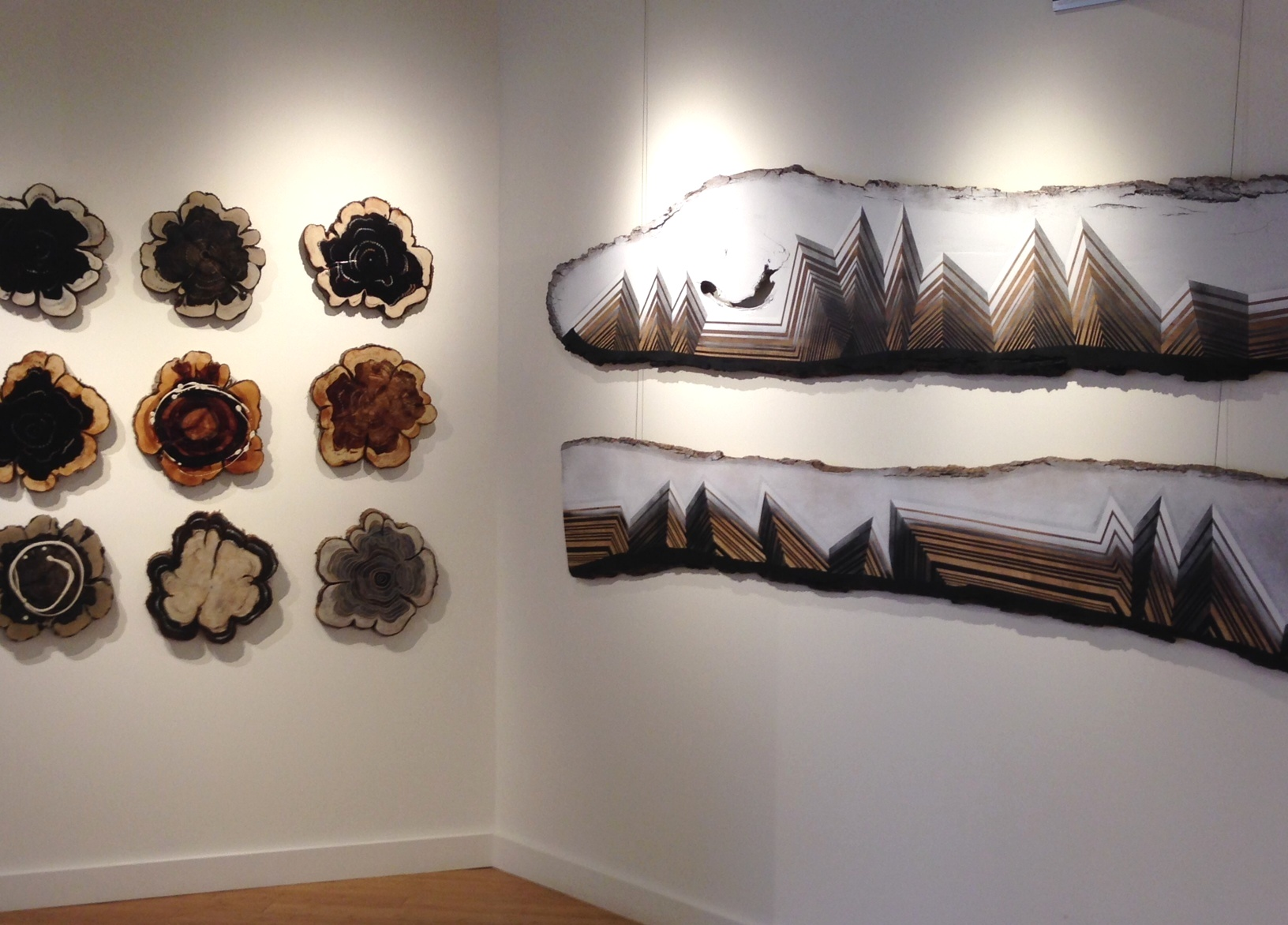 Julia Mori's storm damaged trees were featured in Natural Geometry during Westfest 2014