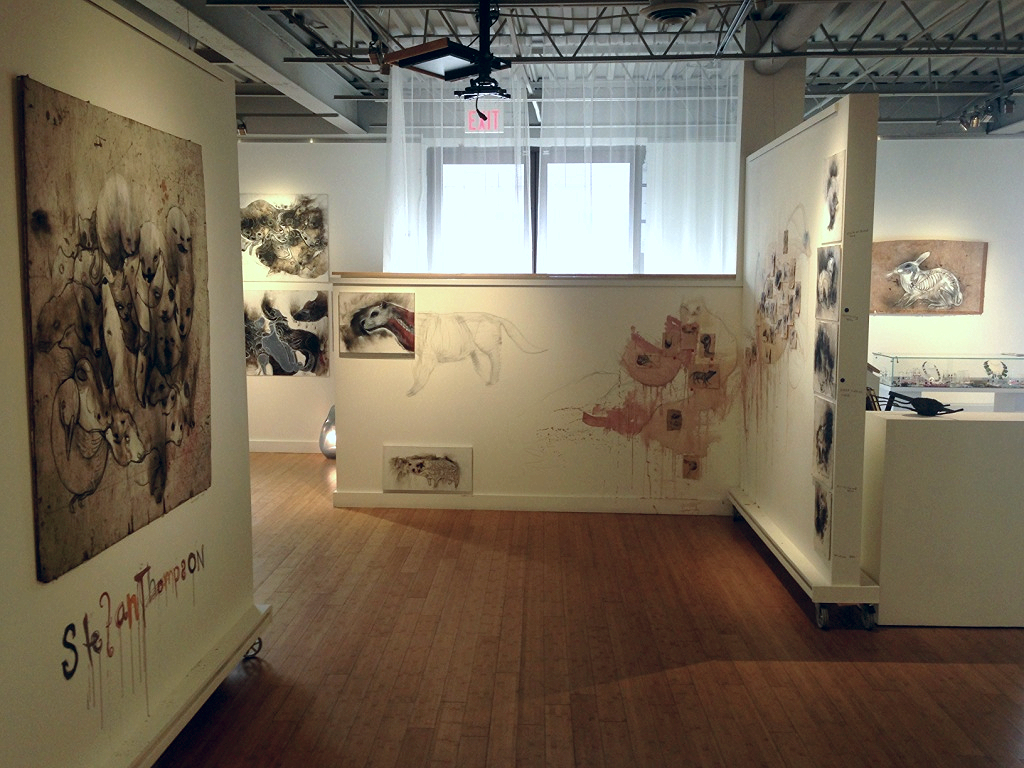 Earth day with Stefan Thompson, installation shot of one of his two featured exhibitions