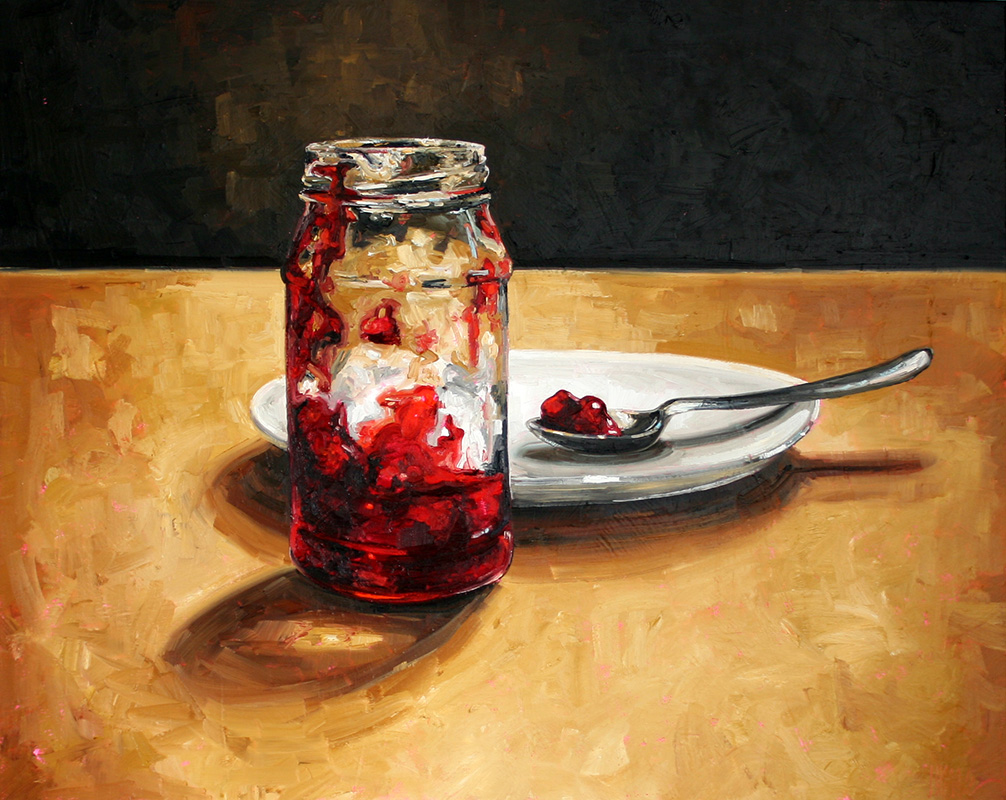 """Julie Himel, """"Untitled (Cherry)"""", Oil on Canvas, 24"""" x 30"""""""