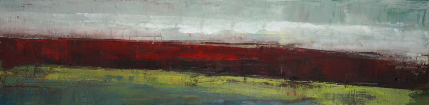 "Welcome to Wall Space Gallery, Peter Colbert! Pictured ""Pontiac View"", Acrylic on Canvas, 15"" x 60"""