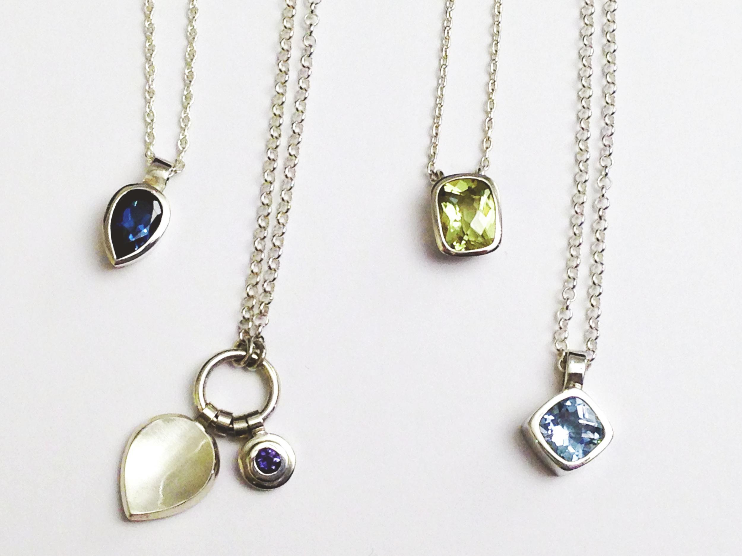 Semi-precious stone necklaces by Andrea Mueller