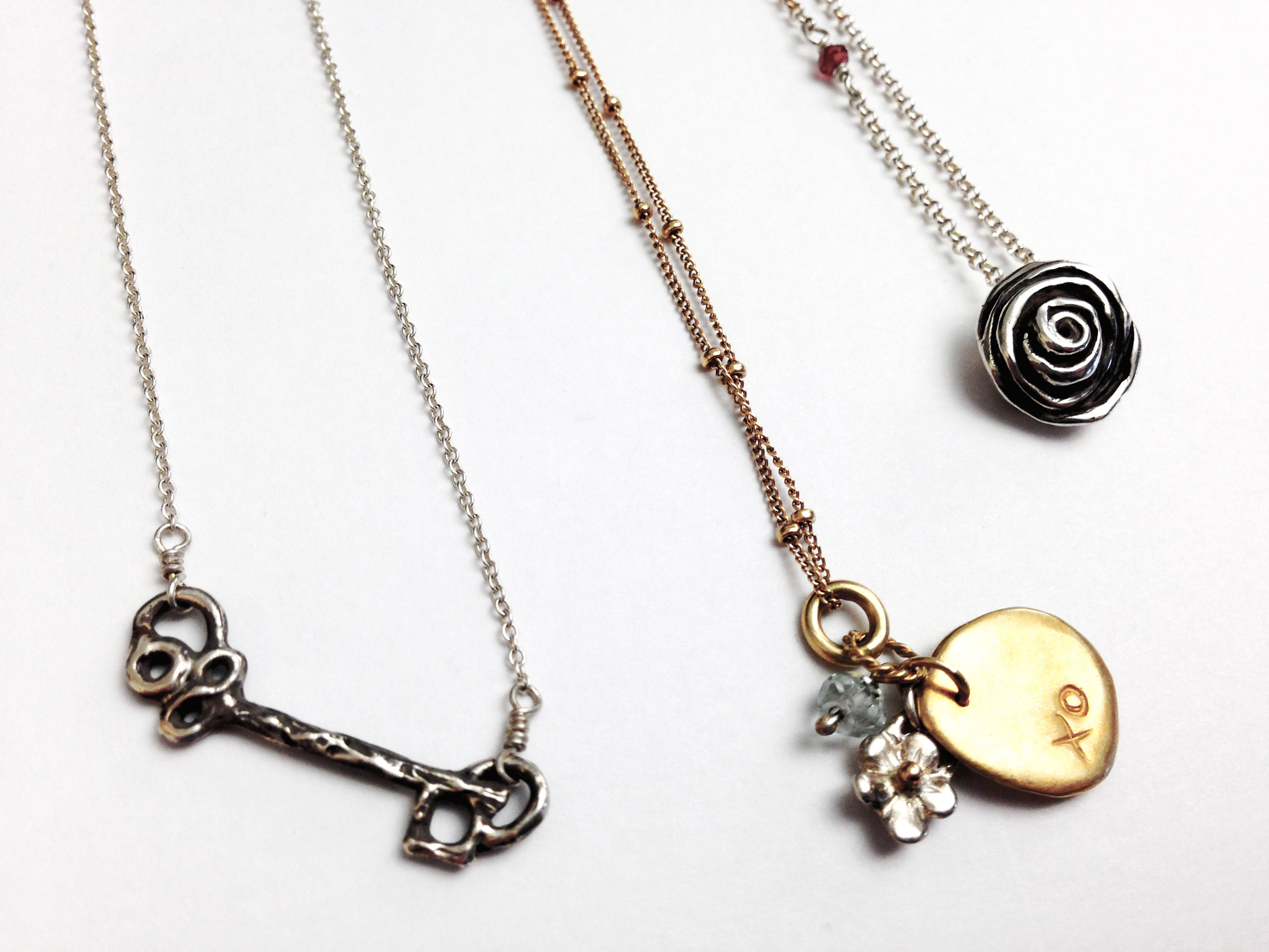 Charm necklaces by Kathryn Rebecca