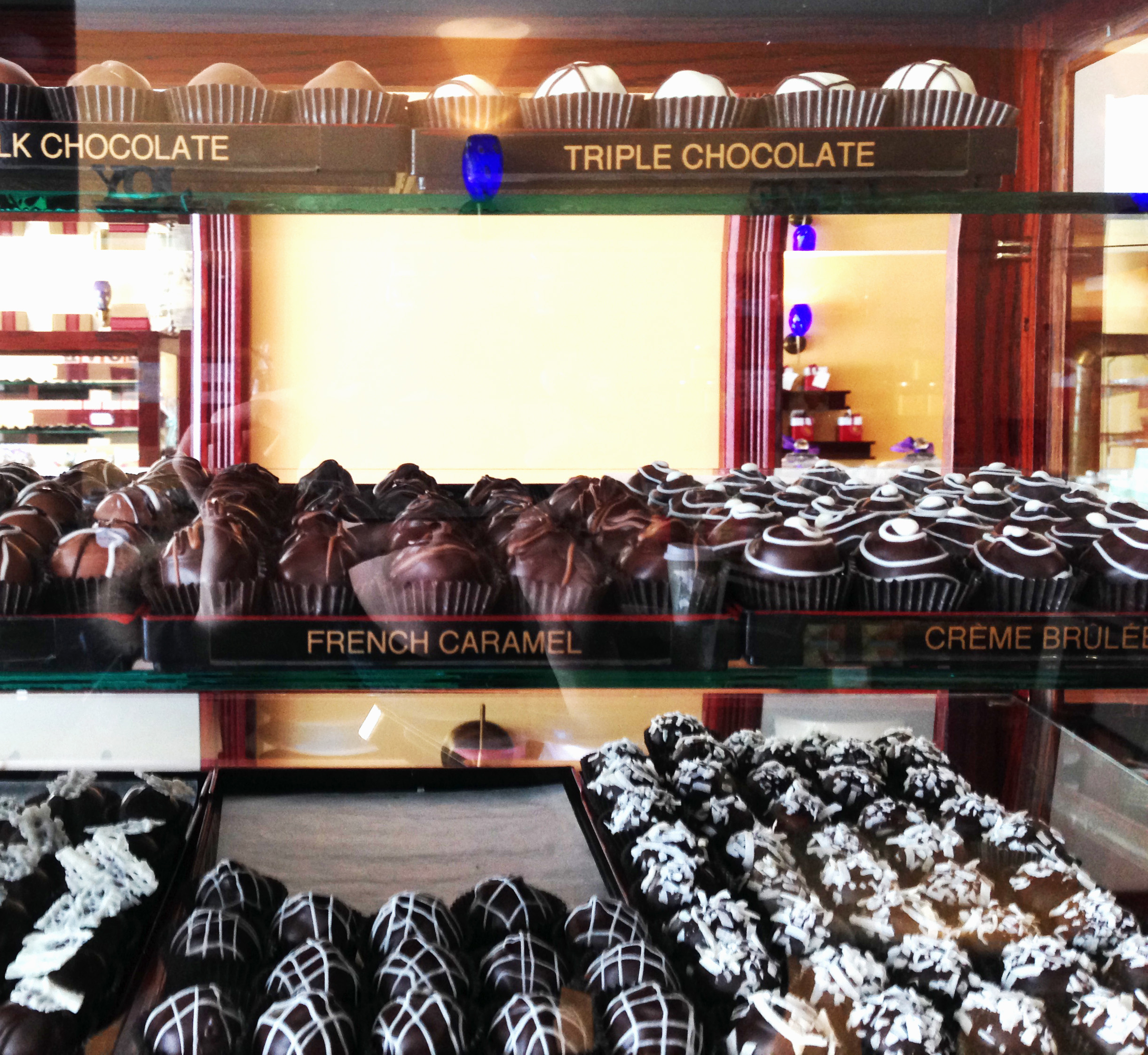 Several delicious choices of truffles to choose from at Truffle Treasures