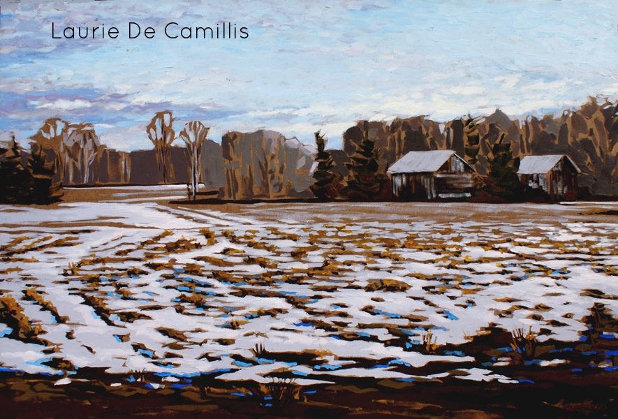 "Laurie De Camillis, Across the Field, 24"" x 36"""
