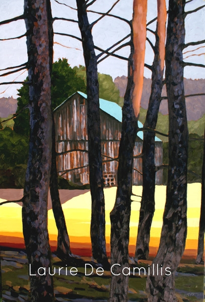 "Laurie De Camillis, Beyond the Pines, 36"" x 24"""