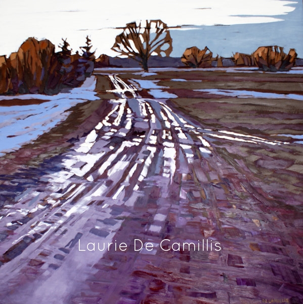 "Laurie De Camillis, Blue Fields of Snow, 36"" x 36"""