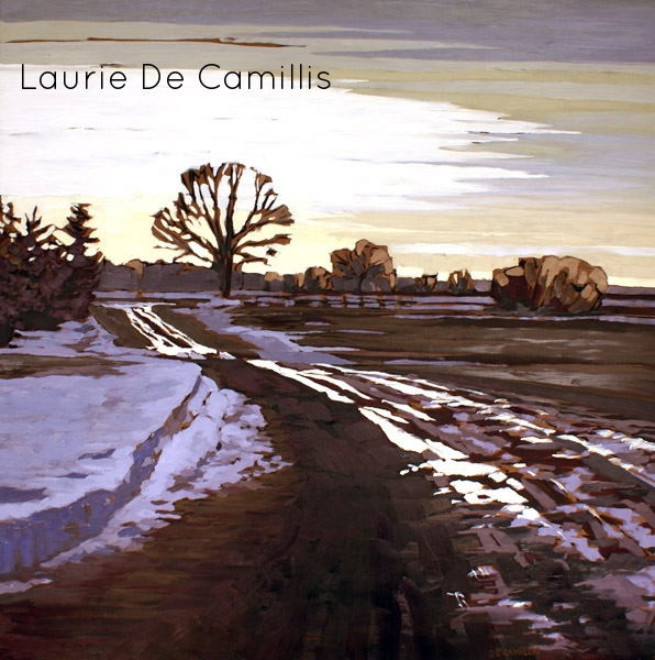 "Laurie De Camillis, Bright Tracks to the Horizon, 36"" x 36"""