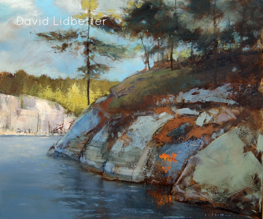 "David Lidbetter, View of Alligator Rock - Charleton Lake, Oil on Canvas, 20"" x 24"""