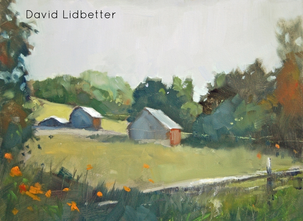 "David Lidbetter, The Still Farm (plein air), Oil on Panel, 9"" x 12"""