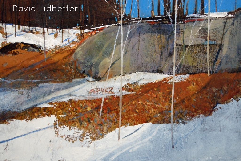 "David Lidbetter, Roadside - Snug Harbour, Oil on Panel, 10"" x 15"""