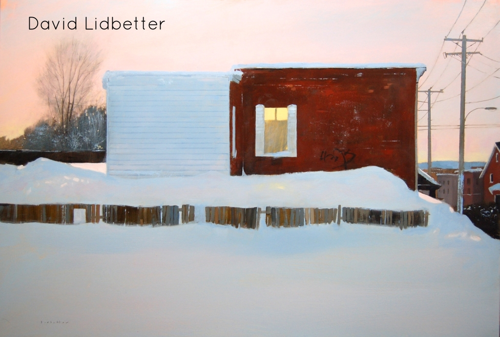 "David Lidbetter, Let the Day End - Old Hull, Oil on Canvas, 24"" x 36"""