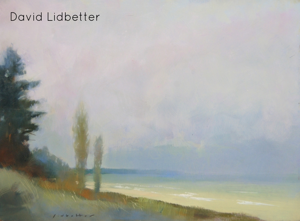 "David Lidbetter, Lake Huron at the Pinery (plein air), Oil on Panel, 9"" x 12"""