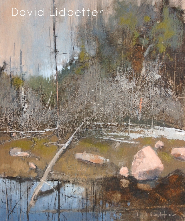 "David Lidbetter, Algonquin Wetland 5, Oil on Panel, 9"" x 7"""