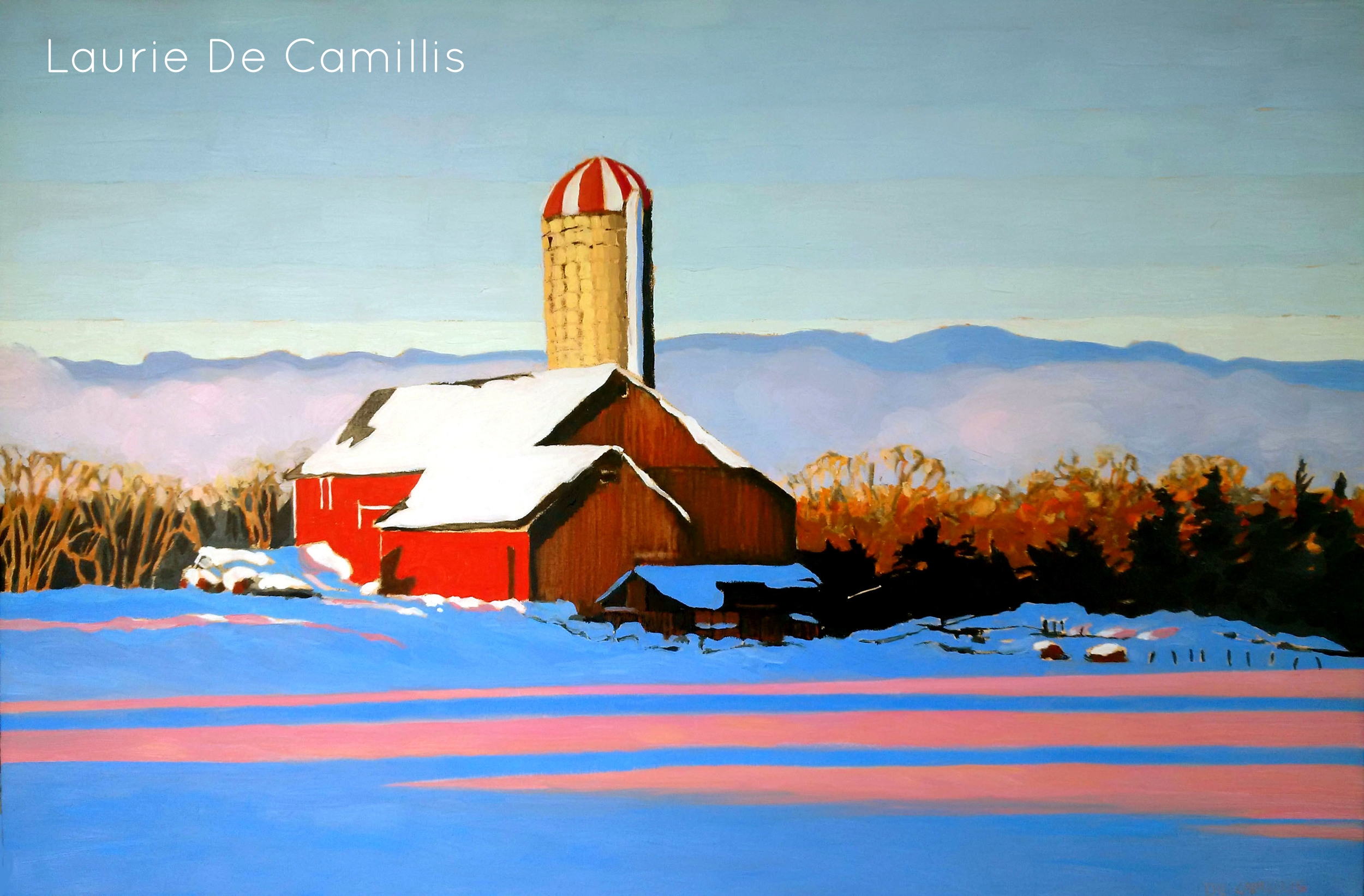 "Laurie De Camillis, Winter Heat, 24"" x 36"""