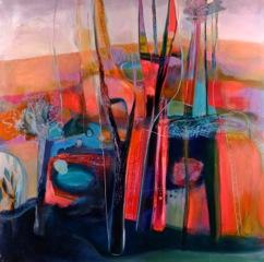 "Tree Fort, Acrylic on Panel, 48"" x 48"""