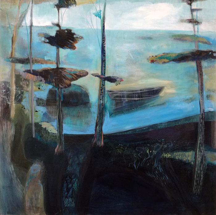 """Dreamboat, Acrylic on Panel, 42"""" x 42"""""""