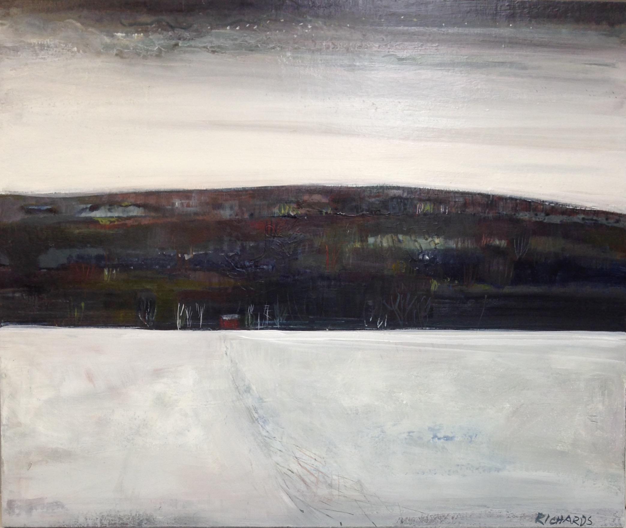 "Ferry Crossing, acrylic on panel, 20"" x 24"""