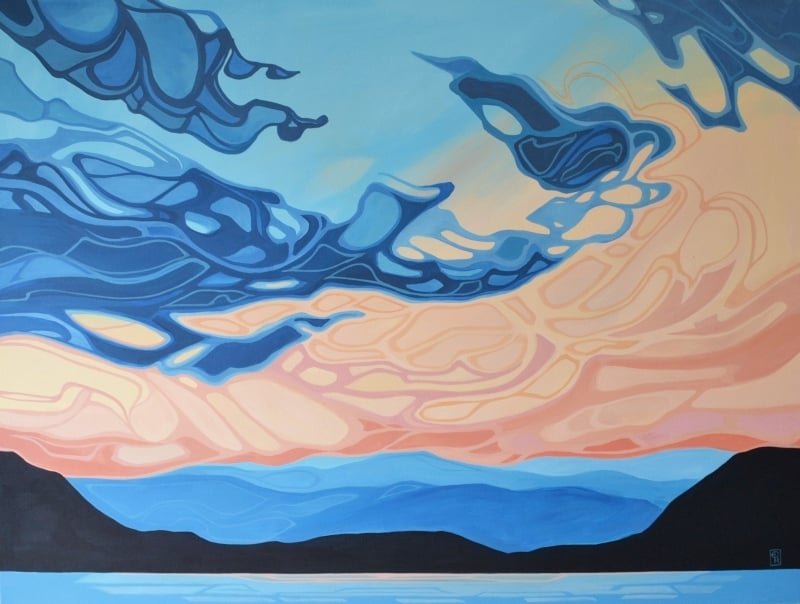 """Erica Hawkes, A Favourite Time, Acrylic on Canvas, 36"""" x 48"""""""