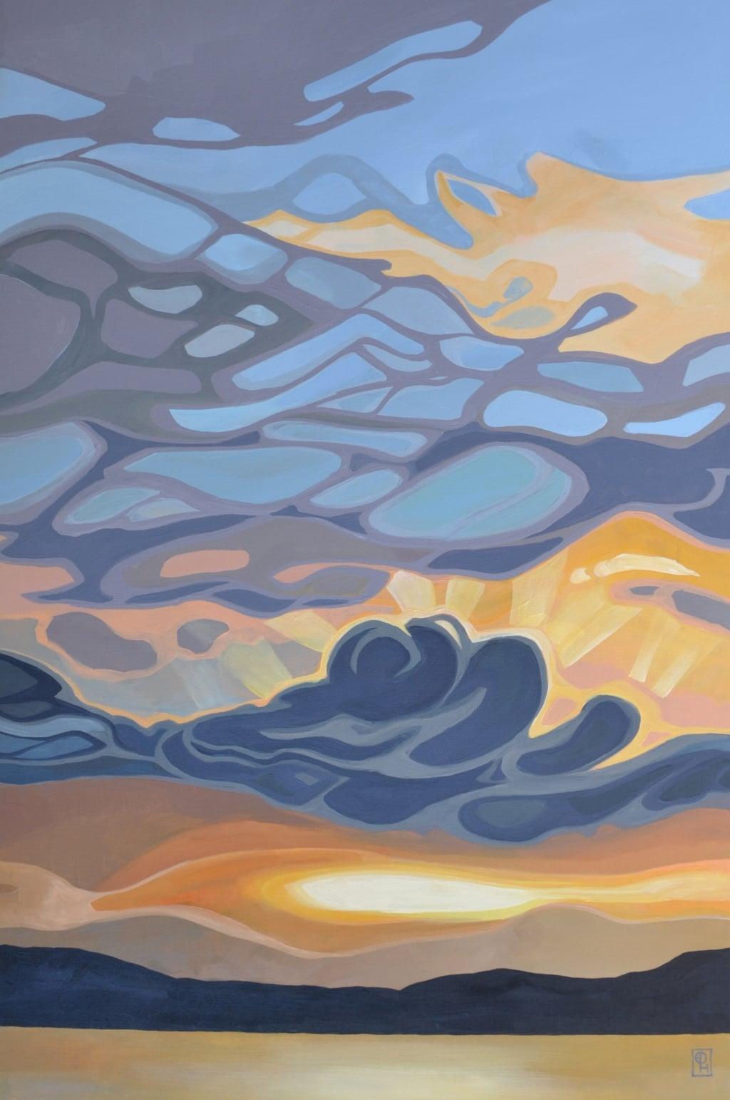 "Erica Hawkes, Creme Caramel, Acrylic on Canvas, 36"" x 24"""