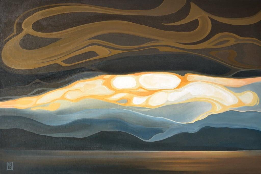 "Erica Hawkes, The Romantic, Acrylic on Canvas, 24"" x 36"""