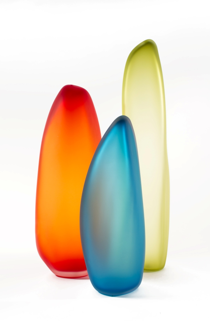 """Nick Chase, """"Stones"""", Glass Sculpture"""