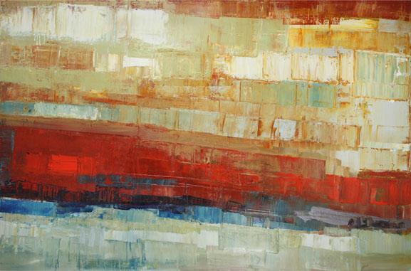 "Peter Colbert, ""Sky Breaks"", Acrylic, 48"" x 72"""