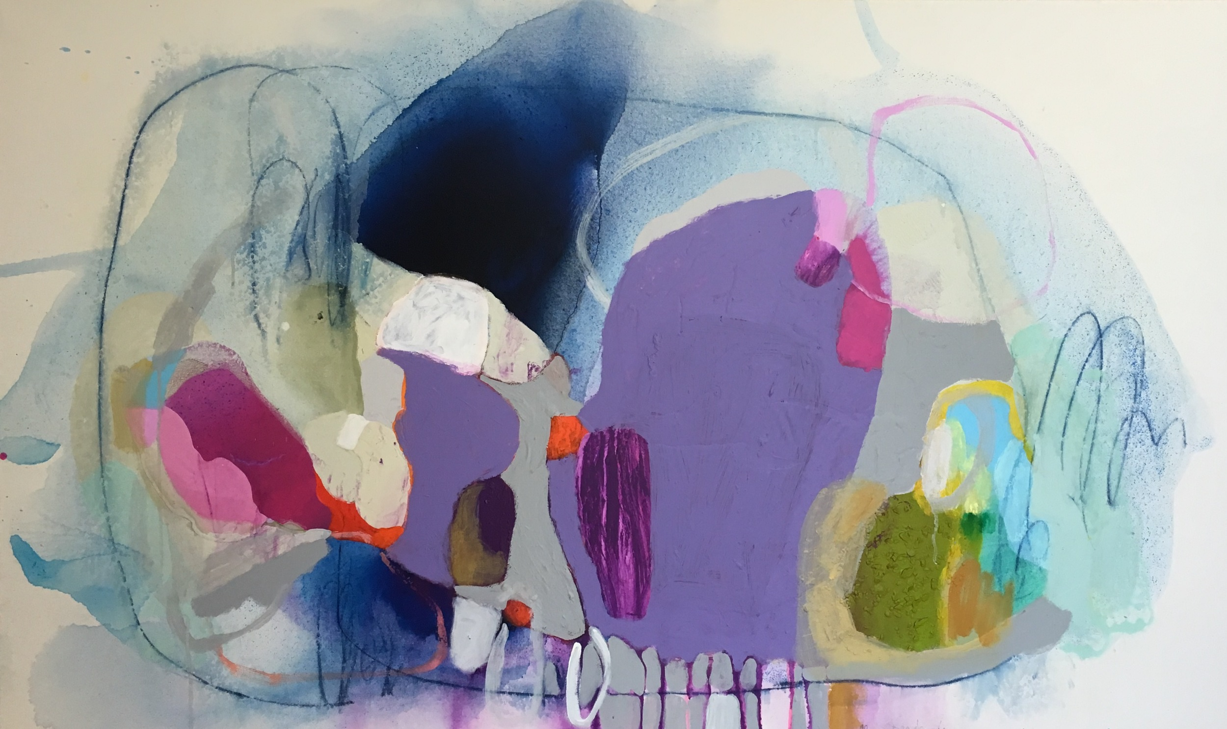 """Sometime in June, Acrylic on Canvas, 36"""" x 60"""""""