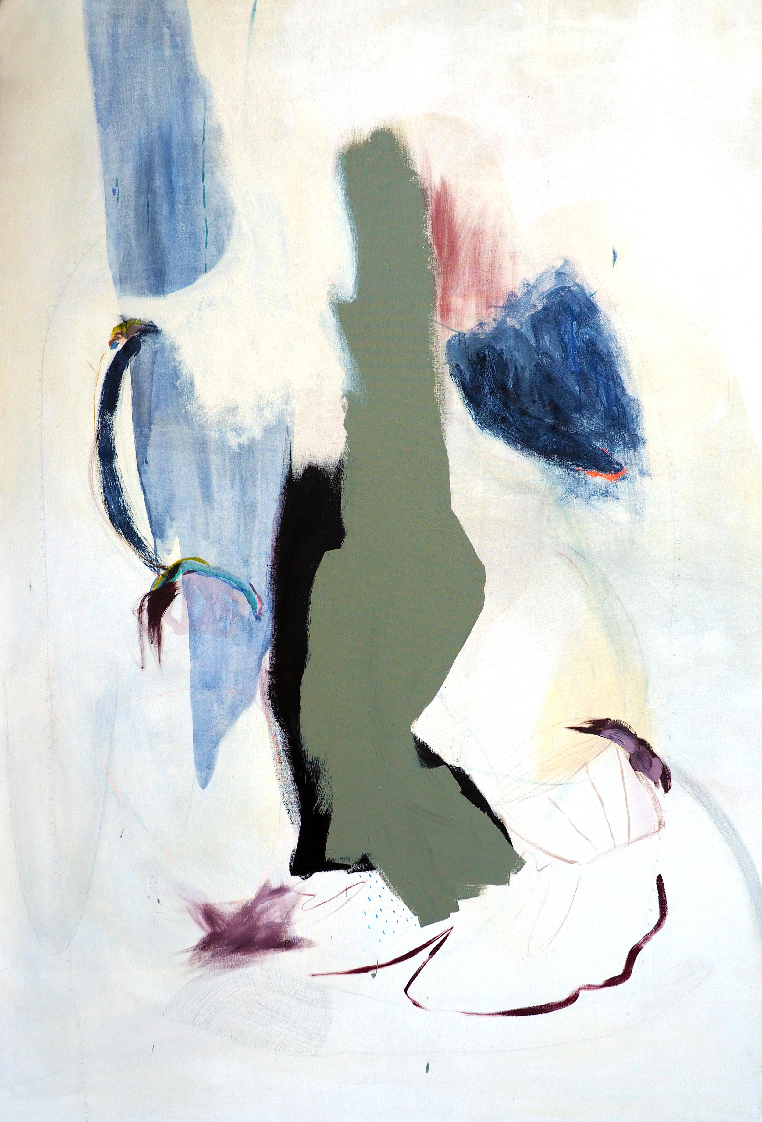 Molly Mask,  You, More , 6' x 4', Mixed media on canvas