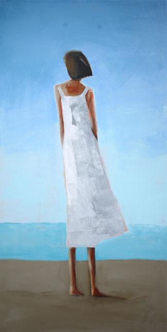 """Wistfulness, Acrylic on canvas, 24"""" x 48"""""""