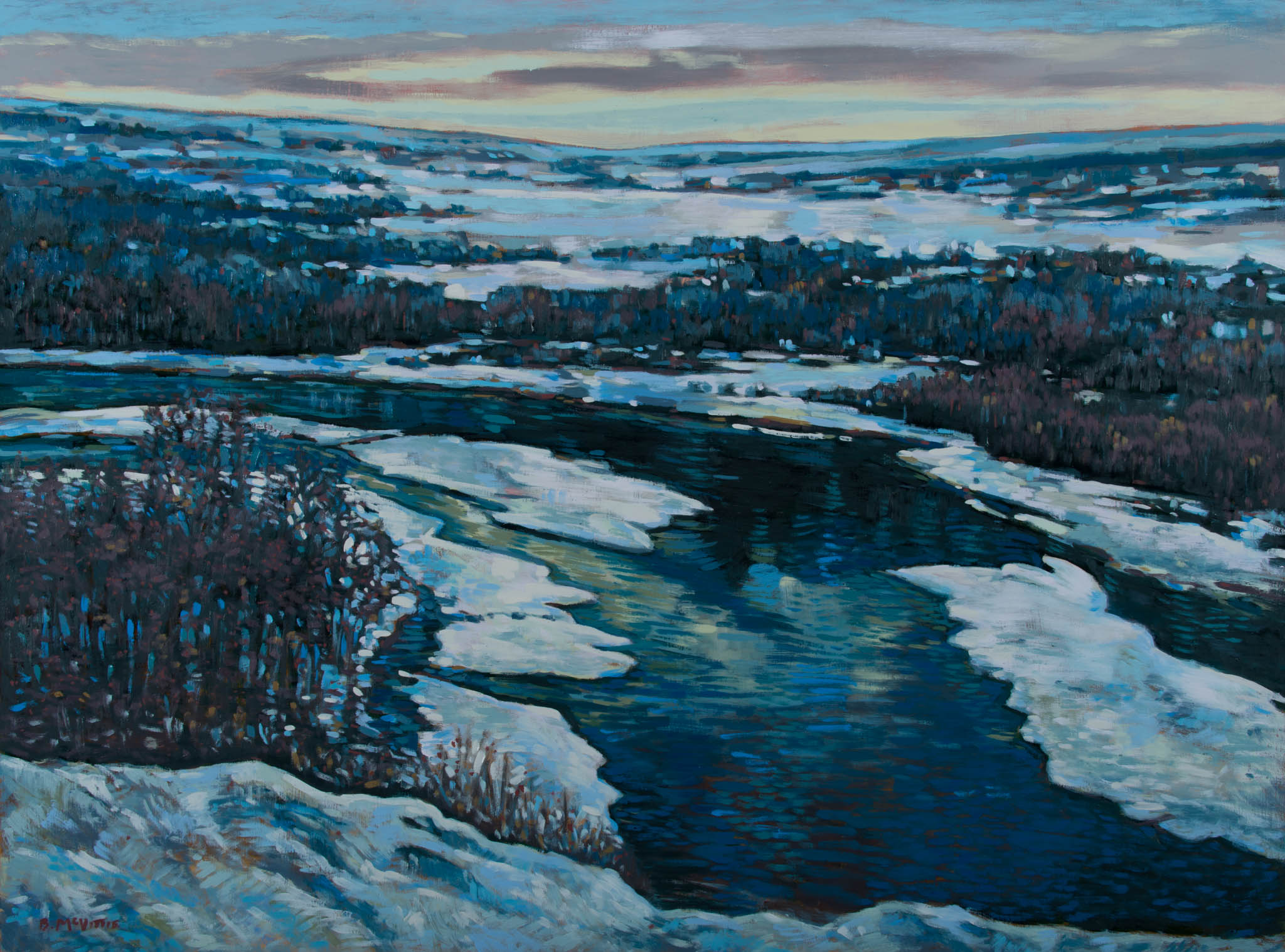 WALK OUT TO WINTER, oil on panel, 36inch x 48inch.jpg