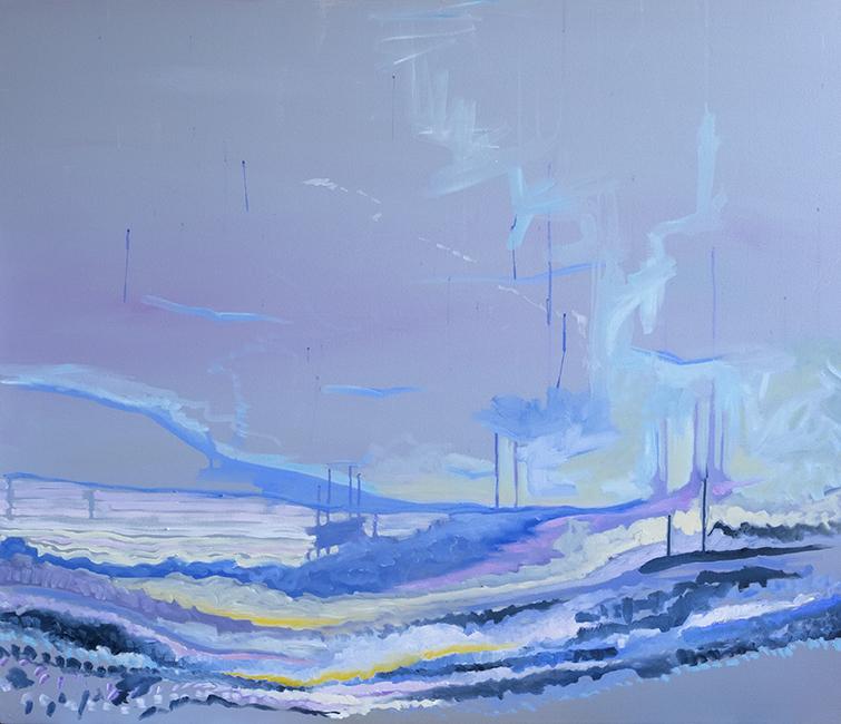 Coastal Blues , oil on canvas, 48 x 41 in. (122 x 104 cm)