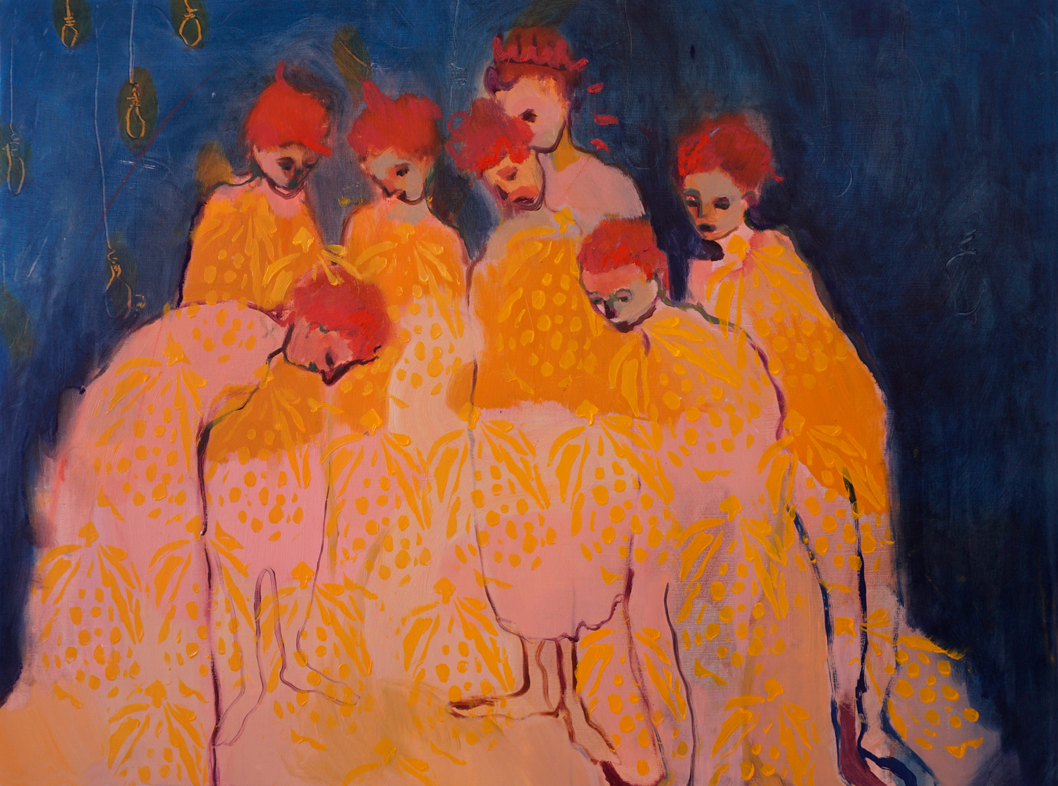 """Vanessa McKernan,  Observers , oil on panel, 24"""" x 18""""- click here for  full collection"""