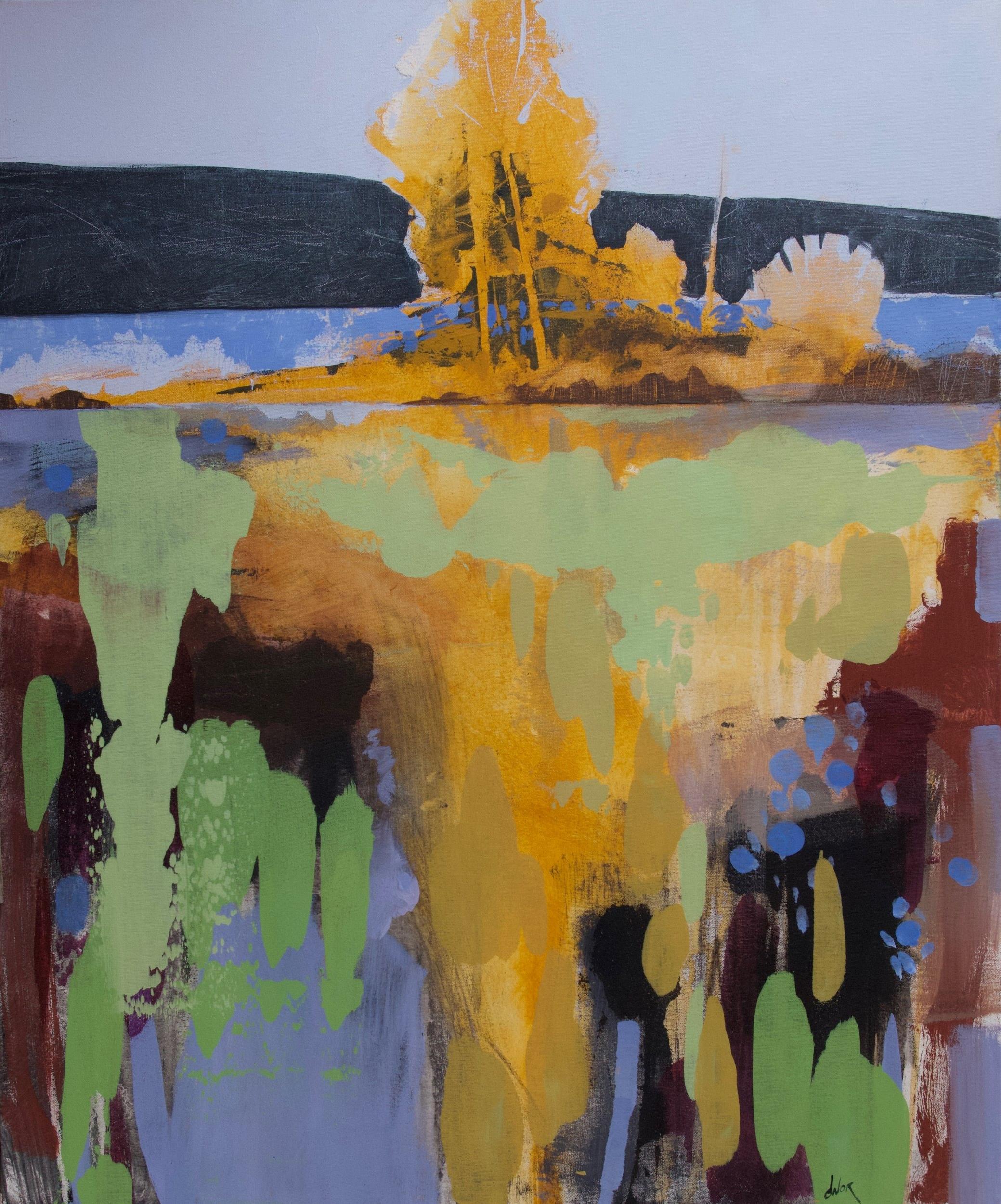 Mon Enfance est celle d'un Arbre,  acrylic on canvas, 30 x 36 in. (76 x 91.5 cm)