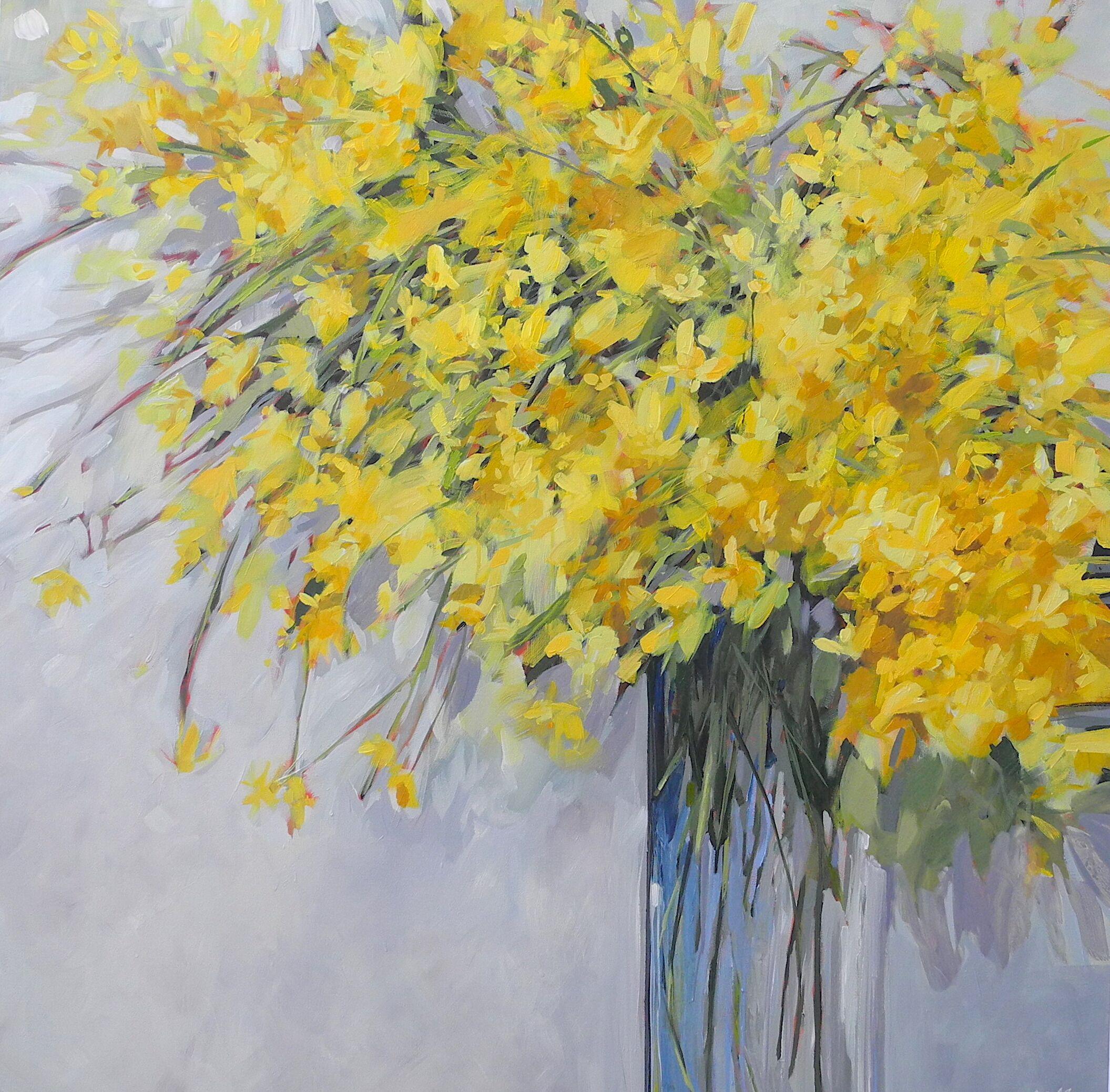 Nicole Allen,  Hope,  acrylic on canvas, 40 x 40 in.