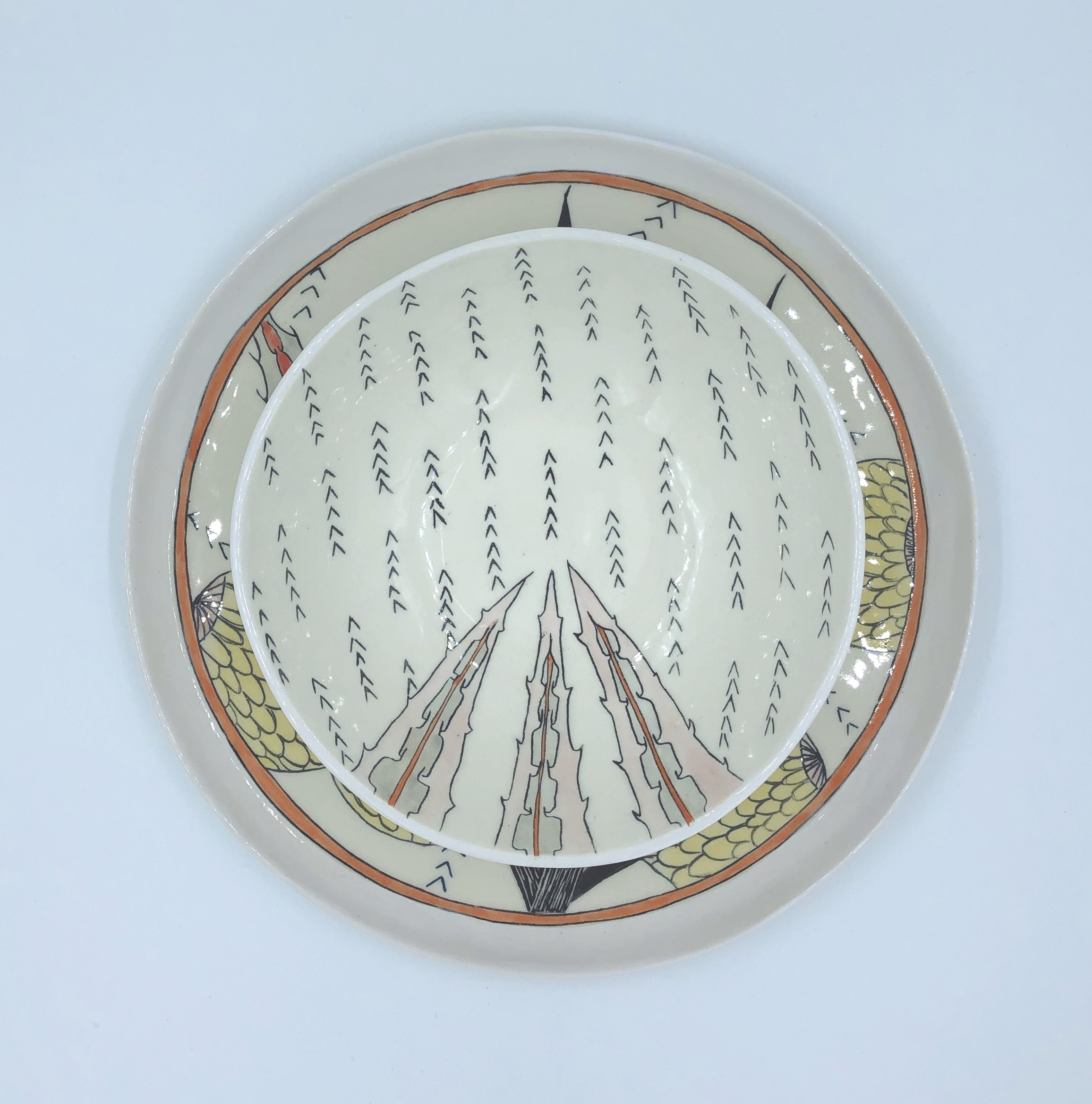 Agave Tequilana Bowl and Plate .JPG