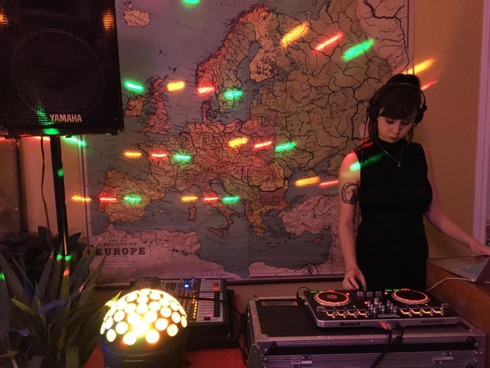 DJ OHJAY performing live at Wall Space Gallery in 2018.