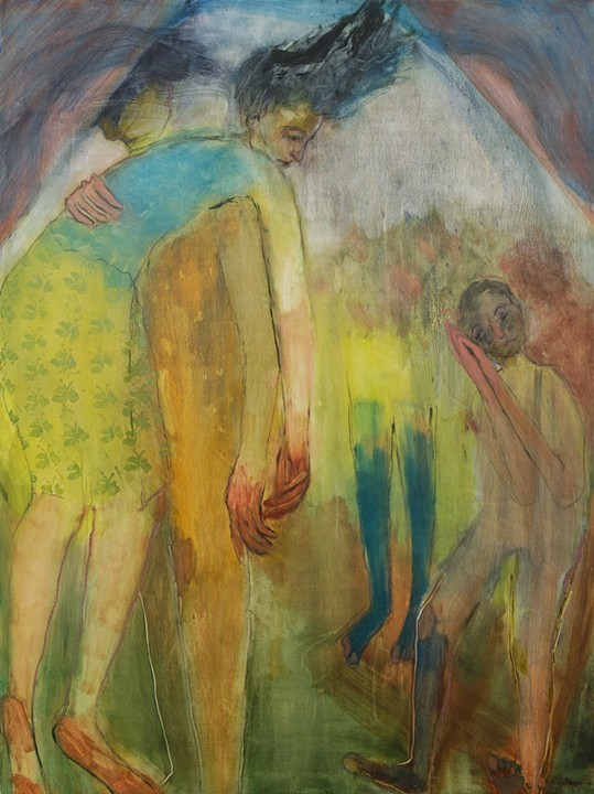 Together  Oil on panel 36 x 48 in. $3000