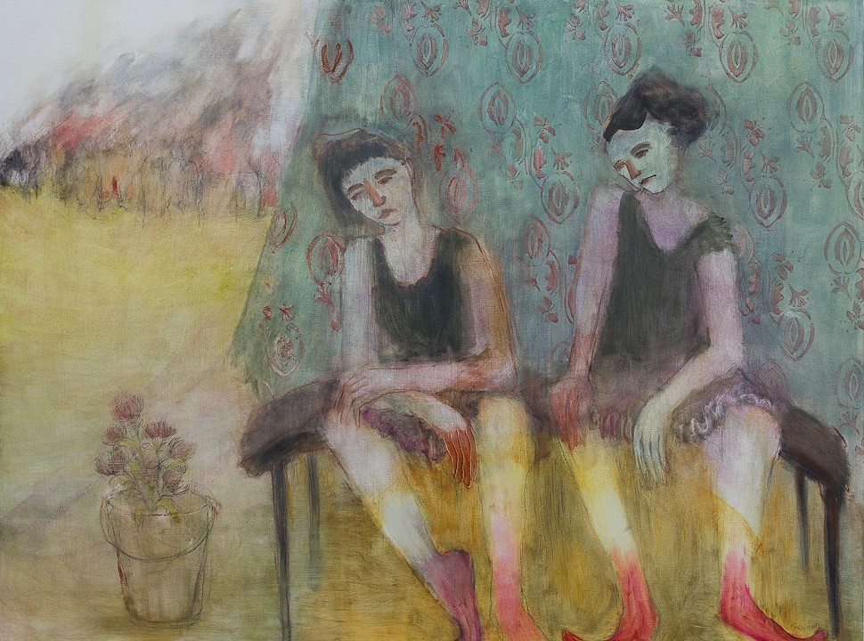 Waiting for Fire Oil on panel 48 x 36 in. $3000