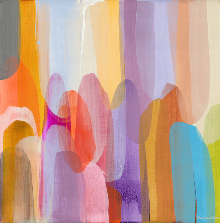 Kinship,  acrylic on canvas, 48 x 48 in. (121.9 x 121.9 cm)