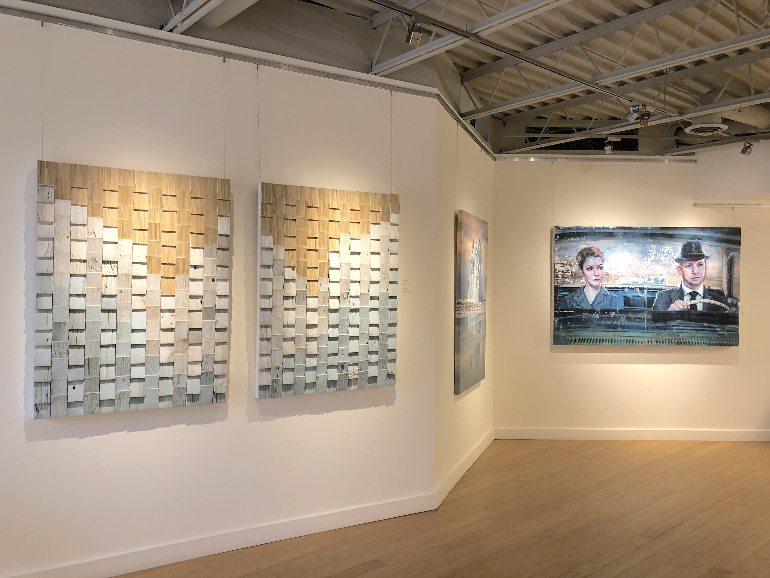 Wash Away I and II , installation view