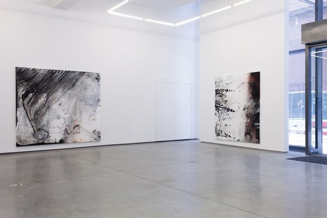 """Installation  of """"Call With Information"""" exhibition, Team Gallery NY, 2015"""
