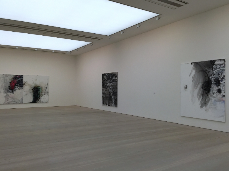"""installation view of """"champagne life"""", saatchi gallery, 2016"""