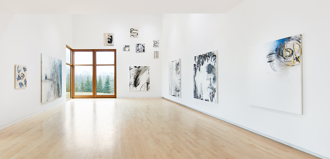Installation view of  Just Left Feel Right  exhibition, The Aldrich Contemporary Art Museum, 2017