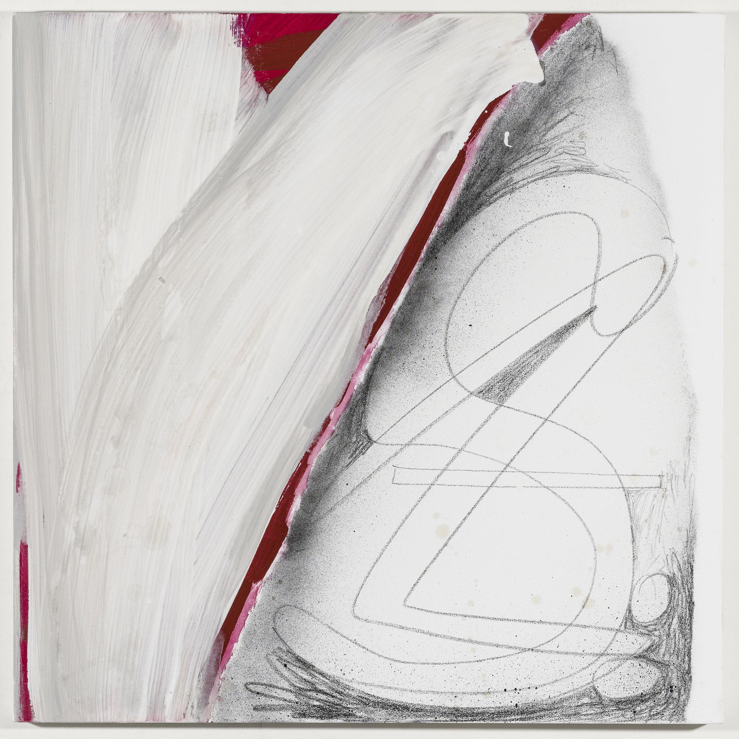 Initials: Sasheer Zamata   2018  Graphite and acrylic on canvas  20 x 20 inches; 51 x 51 cm
