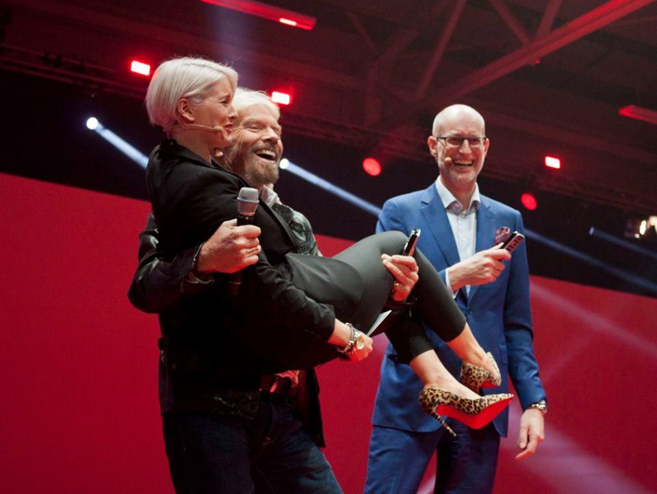 Sinead Kennedy, Richard Branson & Magnus Ternsjo