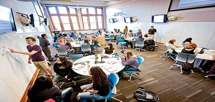 An active learning classroom arrangement