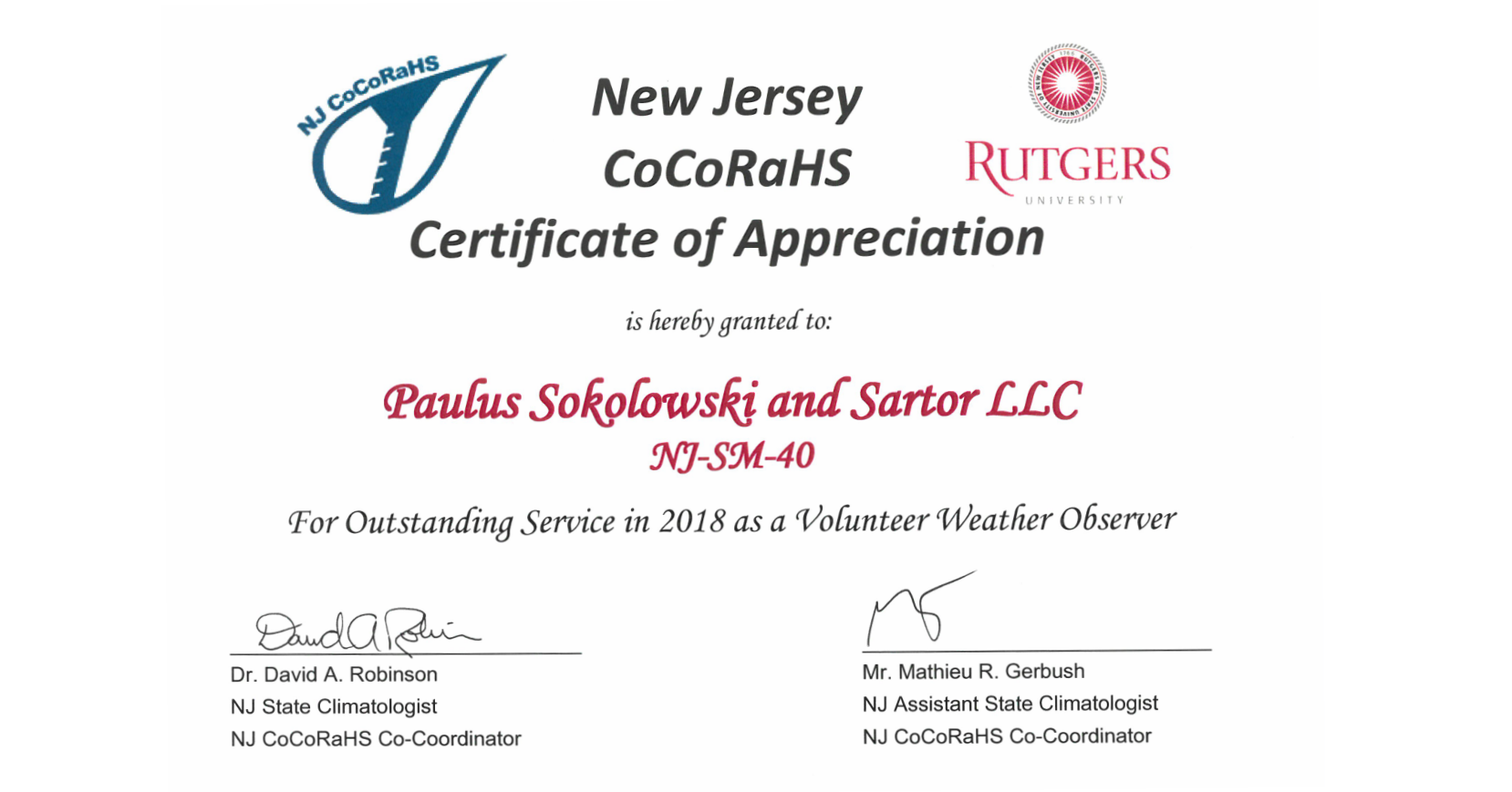 PSS CoCoRaHS Certificate of Appreciation.png