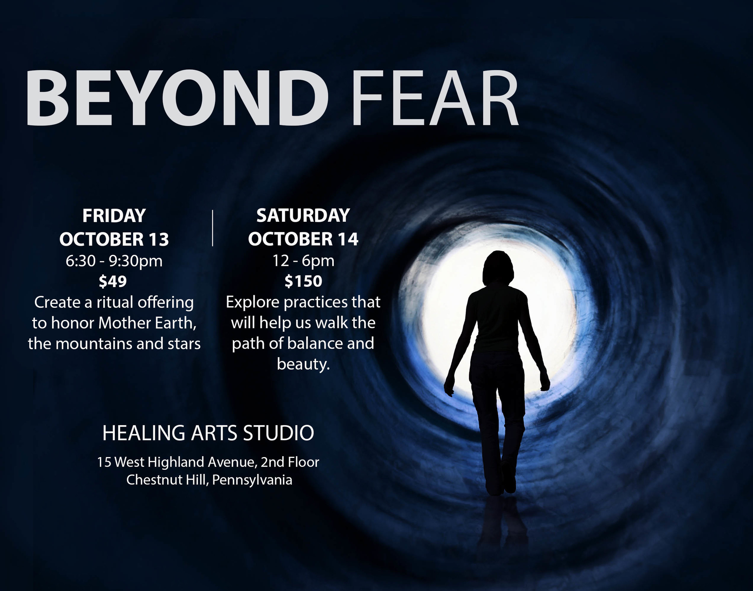 Beyond Fear, Liz Seidel at Healing Arts Studio, Pennsylvania